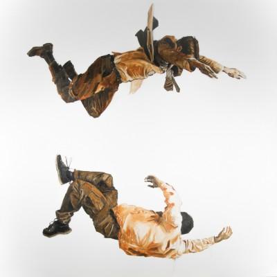 Vallen | Olieverf op doek | 200 x 210 cm