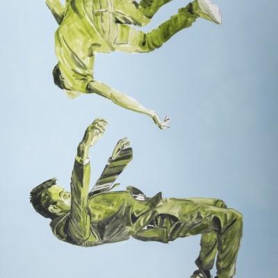 Vallen | Olieverf op doek | 150 x 200 cm