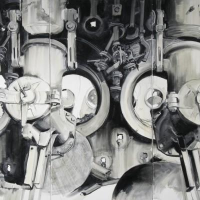 Olieverf op doek | 3 x 70 x 140 cm