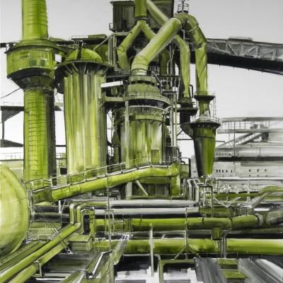 Hoogovens | Olieverf op doek | 145 x 150 cm